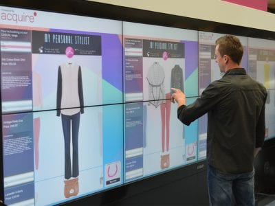 Touch Screen Displaying Clothing