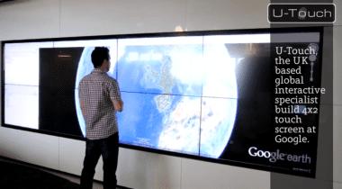 Interactive Video Wall at Google HQ