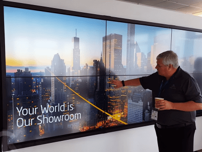 Multitouch LCD Walls