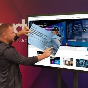 U-Touch 55″ PCAP Touch Screen with Samsung QM55R