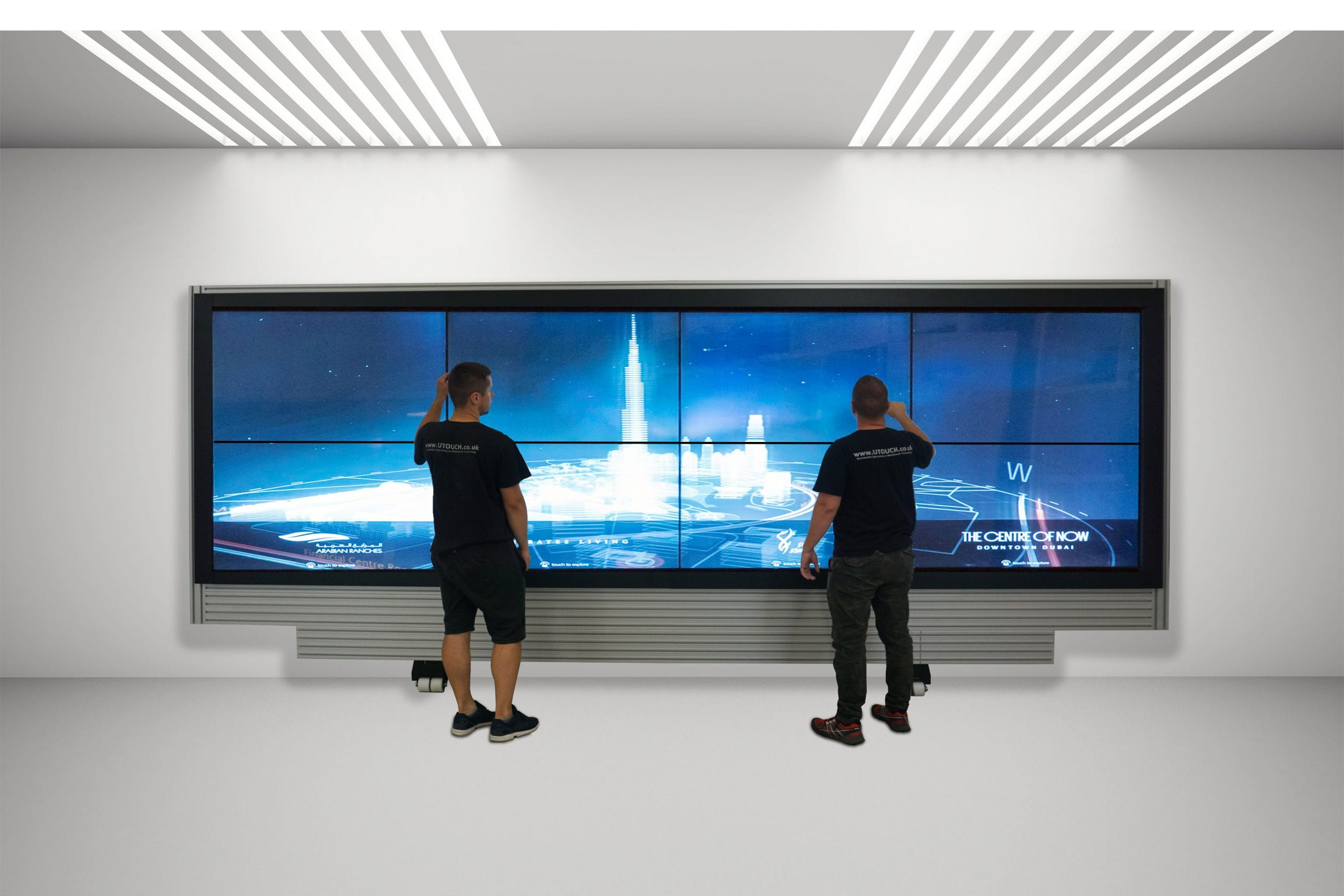 interactive touch wall display